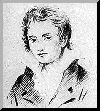 sketch of Percy Shelley