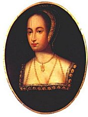 miniature portrait of Anne Boleyn