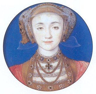 Miniature portrait of Anne of Cleves by Hans Holbein the Younger