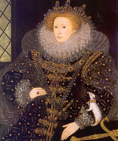 'The Ermine Portrait' of Elizabeth I, c1585, by Nicholas Hilliard;