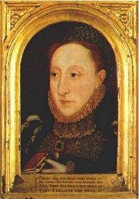 portrait of Elizabeth I on wood; c1565