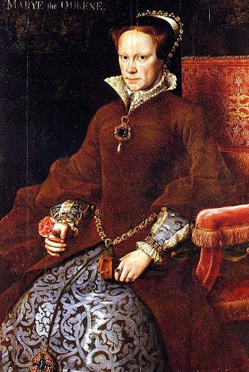 Portrait of Elizabeth's half-sister, Queen Mary I; she ruled England from 1553 to 1558