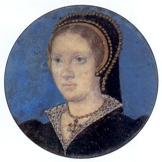 Miniature portrait of Katharine Parr by Lucas Horenbout
