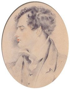 GH Harlow's sketch of Byron, c1815