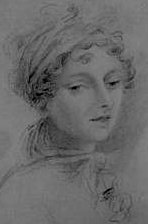 Undated sketch of Lady Caroline Lamb