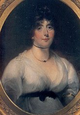 portrait of Lady Melbourne, Byron's confidante and aunt by marriage