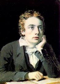 miniature portrait of Keats by Joseph Severn, 1819