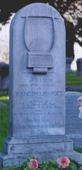 Portrait of Keats's grave at the Protestant Cemetery