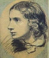 The earliest surviving portrait of Keats; a charcoal sketch by Severn, 1816