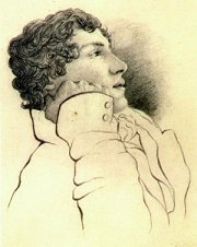 Sketch of John Keats in July 1819, by Charles Brown