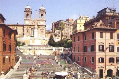 The Piazza di Spagna, Rome
