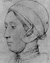 sketch of Anne Boleyn by Hans Holbein the Younger