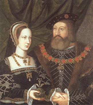 The marriage portrait of Charles Brandon and Princess Mary Tudor