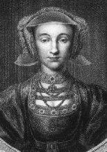 Engraving of Anne of Cleves, after Holbein