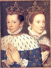 Portrait of Mary queen of Scots and her first husband, Francis II of France