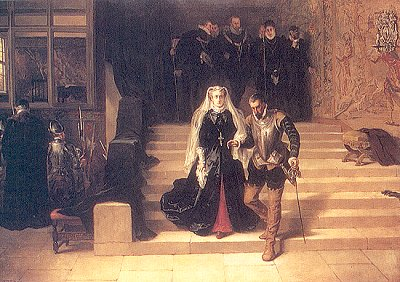 Laslett John Pott's painting 'Mary Queen of Scots being led to execution', 1871