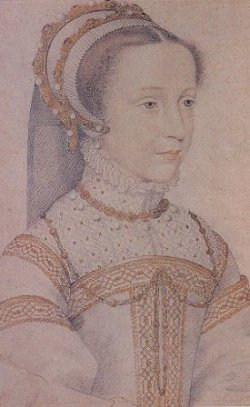 Sketch of Mary, queen of Scots, age 12 or 13, by Clouet