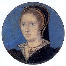 miniature portrait of Katharine Parr by Lucas Horenbout