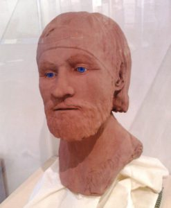 Reconstructed face of the Repton warrior, thought to possibly be Ivar the Boneless