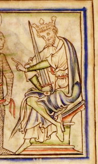 Harold Harefoot in the 13th century The Life of King Edward the Confessor by Matthew Paris