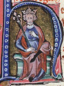 A 14th century portrait of King Canute the Great